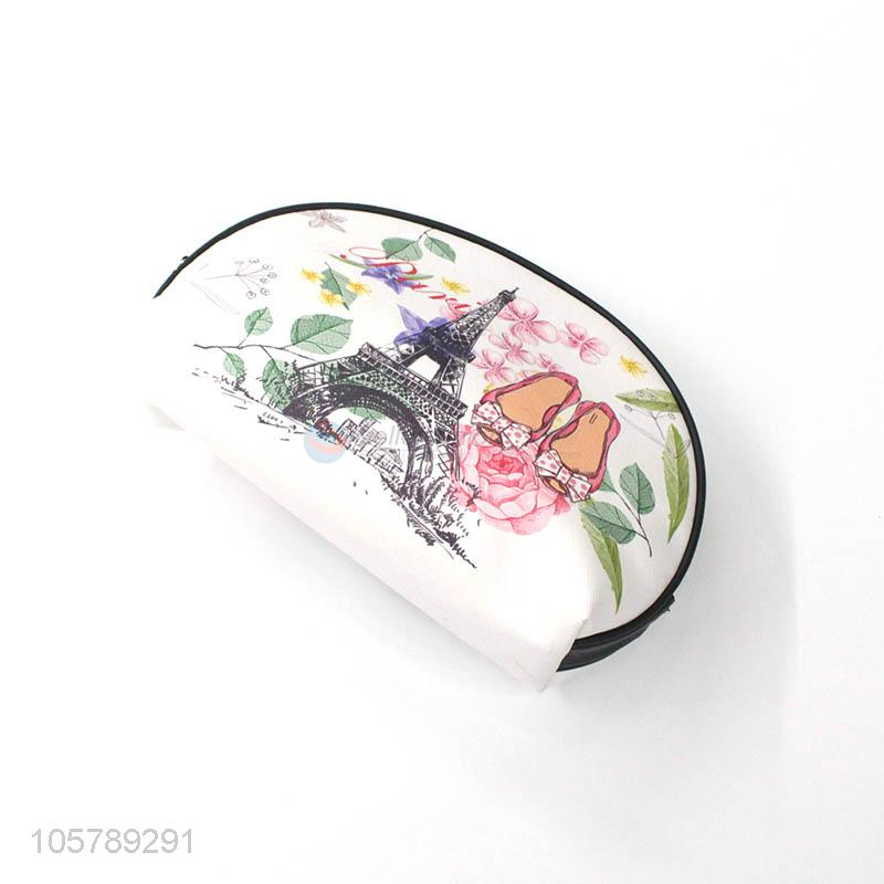 New Design Tower Printed Cosmetic Pouch