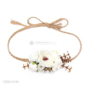 High Quality Simulation Flower Hemp Rope Decorative Head Band