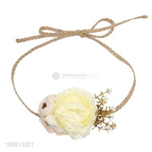 Newest Simulation Flower Hemp Rope Head Band Decorative Headwear