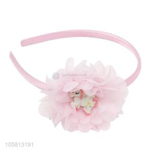 Popular Chiffon Artificial Flower Unicorn Design Hair Hoop