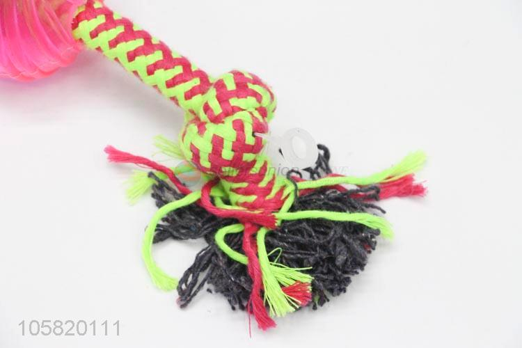 Popular Cotton Rope Rubber Ball Chew Toy For Pet