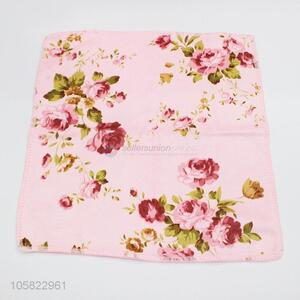 Wholesale Price 3pcs Flower Printed Kitchen Dish Cloth Cleaning Cloth