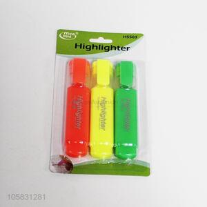 Factory Price 3 Pcs/Set Highlighter Pen School Supplies Office Stationery Set
