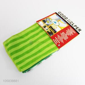 Professional factory supply stripe polyester cleaning cloth