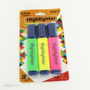 Good Quality 3 Pieces Highlighter Best Advertisement Pen
