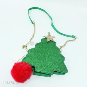 Fashion Design Christmas Tree Shape Single-Shoulder Bag