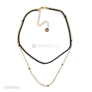 Custom Alloy Chain Beaded Necklace Cheap Jewelry