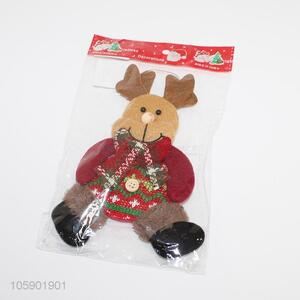 Promotional cute christmas elk pendant party decor