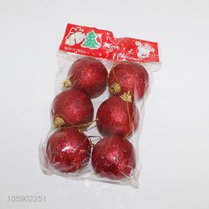Top manufacturer custom red christmas balls