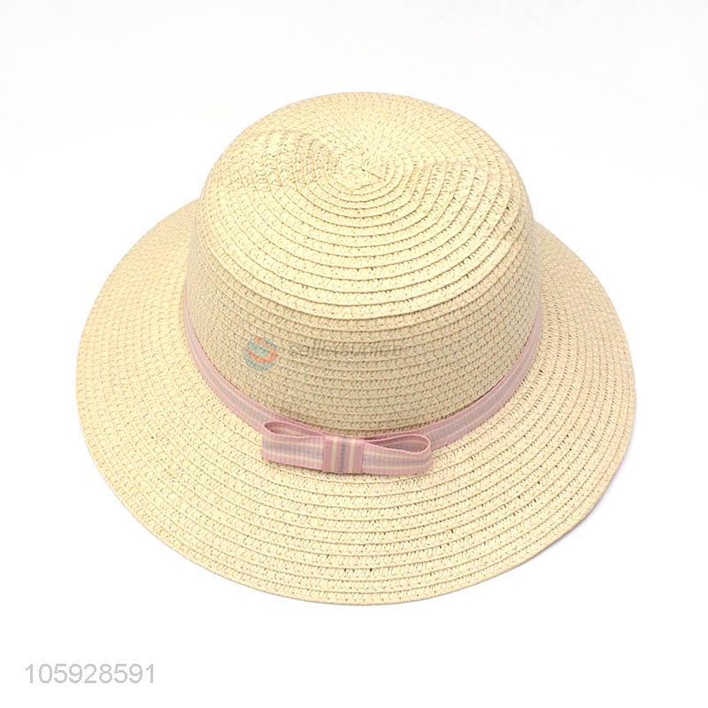 High quality summer fashion woven sun hats for kids beach straw hat ... 7f27a47f7d7