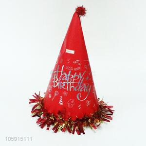 Low price birthday party supplies red cone hat