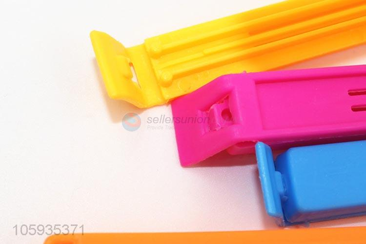 Bottom price colorful plastic food bag sealing clip