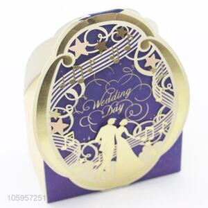Lowest price wedding gift paper box wedding candy box