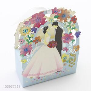 The fashion design wedding candy favor paper gift box