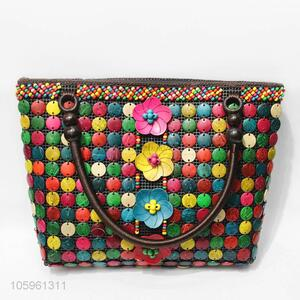 Modern Style Colorful Coconut Shell Accessories Shoulder Bag