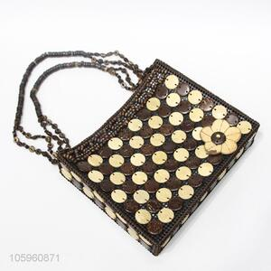 Creative Design Coconut Shell Beads Shoulder Bag