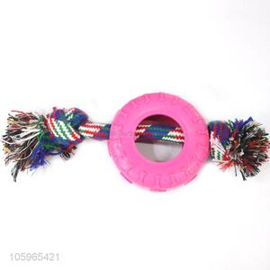 New fashion puppy dog pet tpr toys with rope chew pet toys