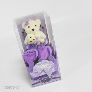 Originality Valentine's Day Gift  Bear and Soap Simulation Flower