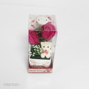 Cheap Price Bear Rose Flower Valentine's Day Gifts