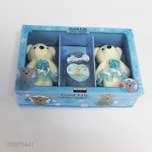 Good quality two bears and wishing bottle set valentine's day present
