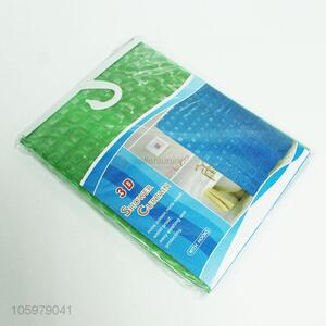 Wholesale price EVA material 3D shower curtain with hook