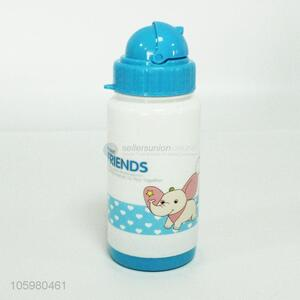 Wholesale price cartoon animal pattern plastic water bottle