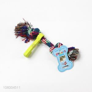 Pet dog rope toy with key teeth cleaning toys chew toys