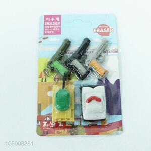 Factory sales blister card packing 3D erasers set for gift