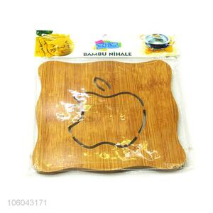 Promotional eco-friendly kitchen accessories apple hollow-out placemat