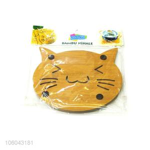 Hot selling cat shape placemat table mat bamboo kitchen tools