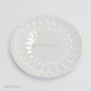 Reliable quality round food lever white melamine plates