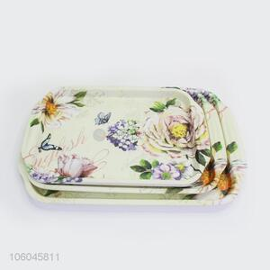 Hot selling plastic melamine fast food serving salver for hotel use