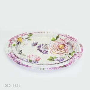 Factory price plastic melamine salver service salver with handles