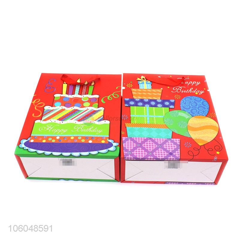 Wholesale Colorful Birthday Gift Bag Paper Present