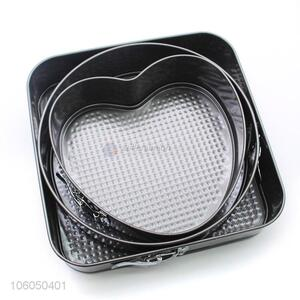 Preseasoned cast iron non-stick heart shape bake pan/scones mold