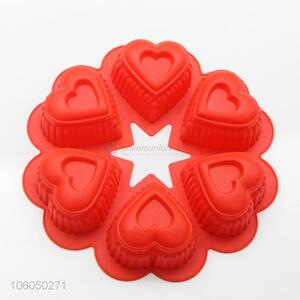 Custom food grade 3d heart shape silicone cake mold