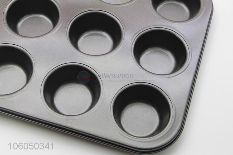 Heat resistant 12 cup cast iron muffin pan cupcake baking molds