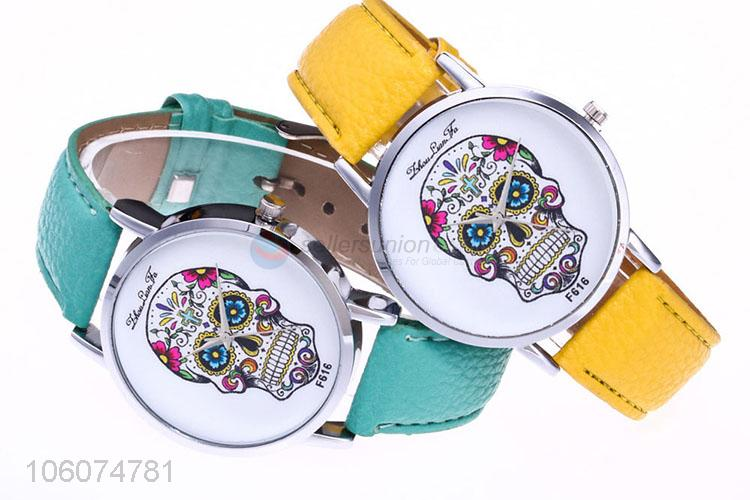 Personality skull face design fashion attractive wrist watches