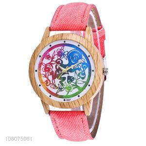 China factory  canvas strap wristwatch quartz lady watch