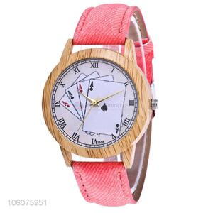 Factory sales ladies watches canvas strap cheaper gift wristwatches