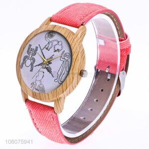 Wholesale price canvas strap quartz girls watch