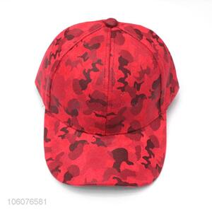 Wholesale red 6 panel suede baseball cap