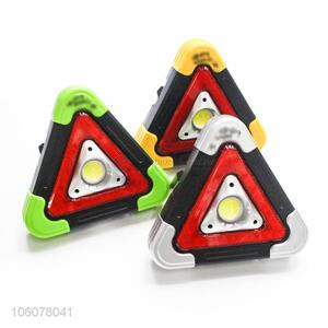 Factory price solar led warning triangle sign light for road safety