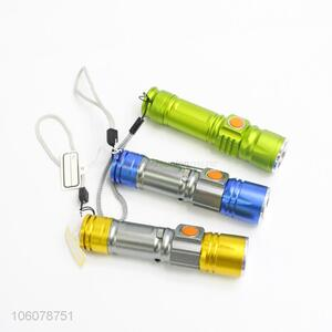 Hot selling usb rechargeable flashlight portable waterproof torch flashlight