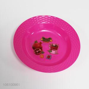 Hot style pink cheap plastic fruit plate for home use