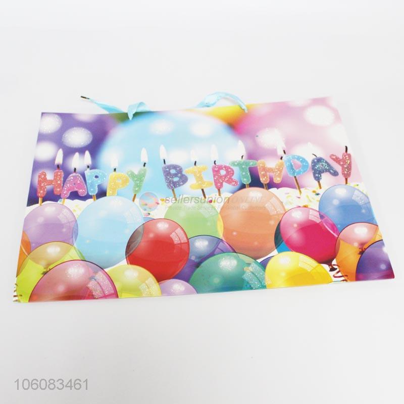 Custom Colorful Birthday Gift Bag Paper