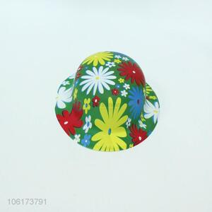 Premium quality flower pattern printed party hat