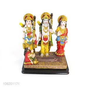 Factory Wholesale Ram Darbar Hindu God Figurine