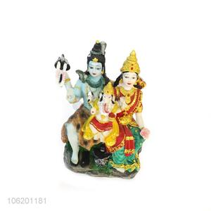 Factory Sales Resin Shiva Family Statue Home Decor
