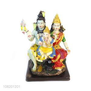 Wholesale Resin Shiva Family Statue Home Engagement Small Indian Gift